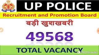 UP Police Bharti 2018-19 | 49568 Posts | Official Notification Out