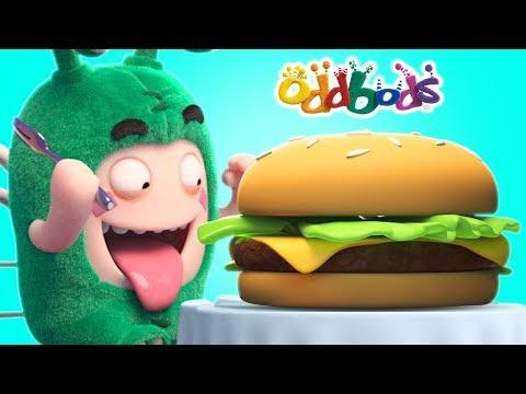 Oddbods | Love For GIANT BURGERS | Funny Cartoons For Children