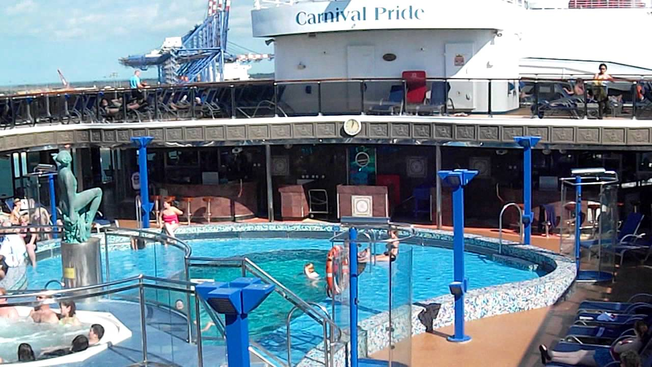 Carnival Pride Video Of 2011 Christmas Cruise Venus Pool