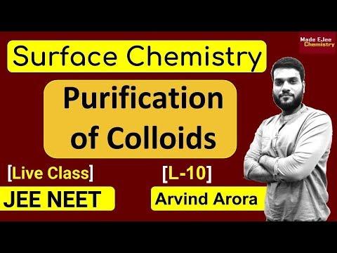 (L-10) Purification & Properties of Colloids || Tyndall Effect + Brownian motion || JEE NEET