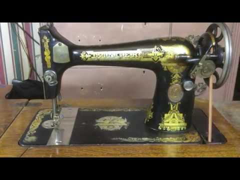 How to operate a treadle sewing machine.