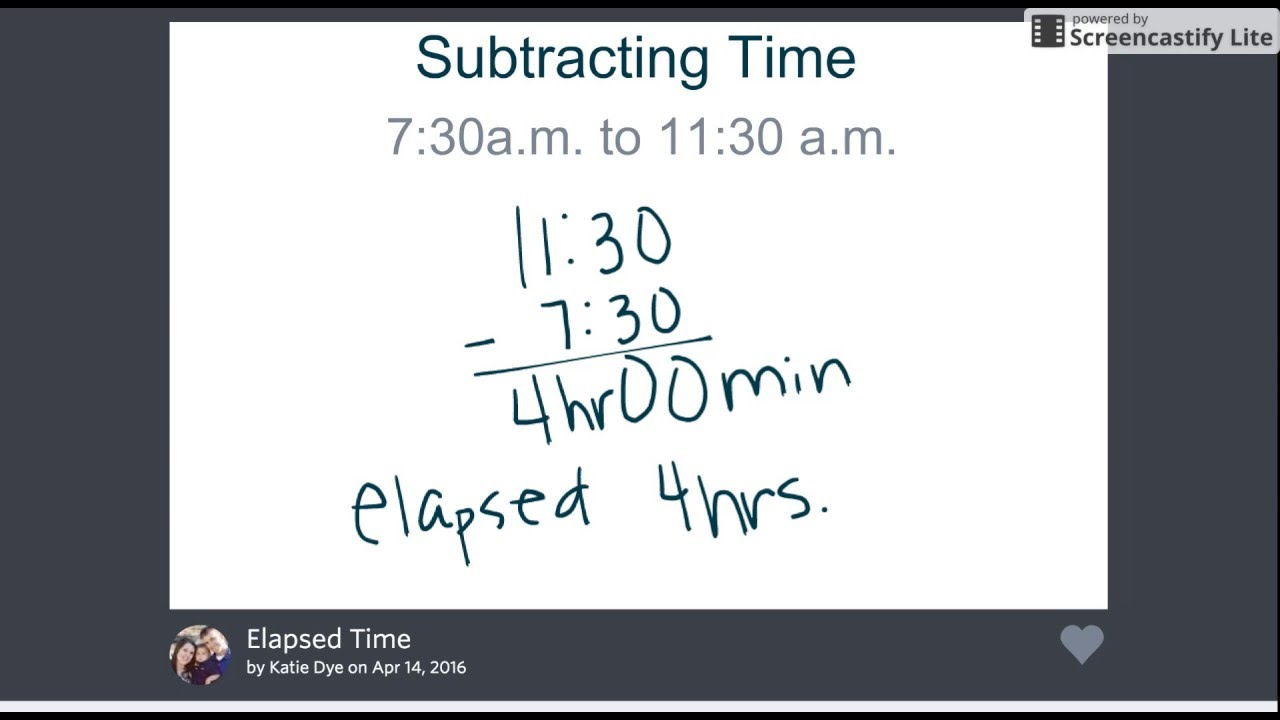 worksheet Subtracting Time subtracting time elapsed youtube time