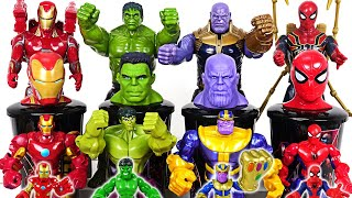 Download Marvel Avengers Infinity War Hulk, Thanos, Spider Man, Iron Man cup tumblrs are alive! #DuDuPopTOY Mp3 and Videos