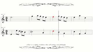 [Sheet Music] Bach Menuet in G Minor