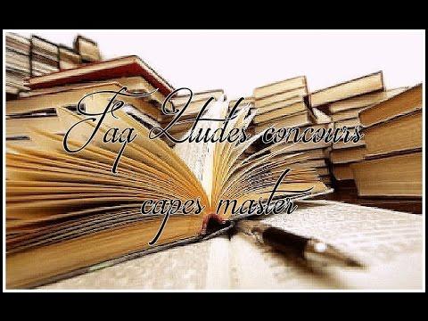 Réponse FAQ Etudes : CAPES, Master, mémoire (BACK TO SCHOOL)