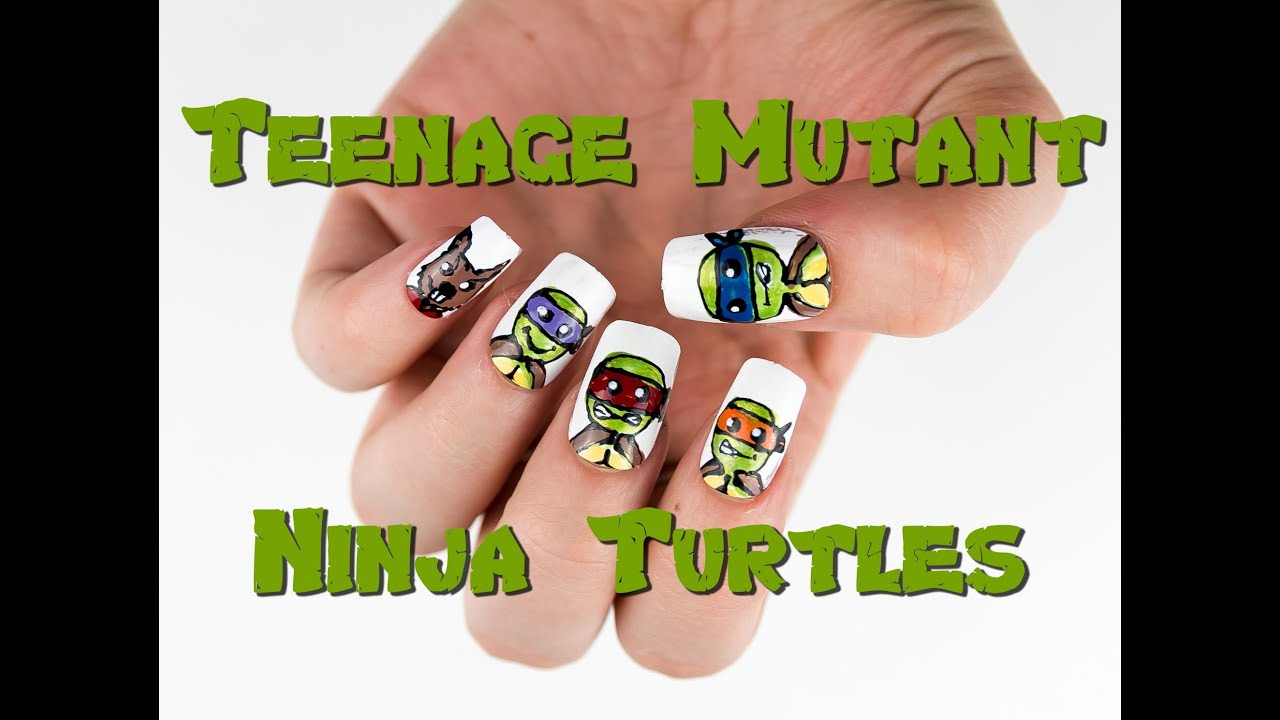 Teenage Mutant Ninja Turtles Nail Art Tutorial - YouTube