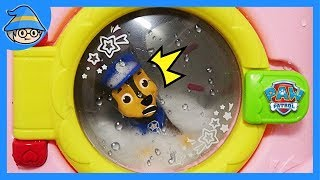 Paw Patrol is in the washing machine. Rescue the Paw Patrol Chase.