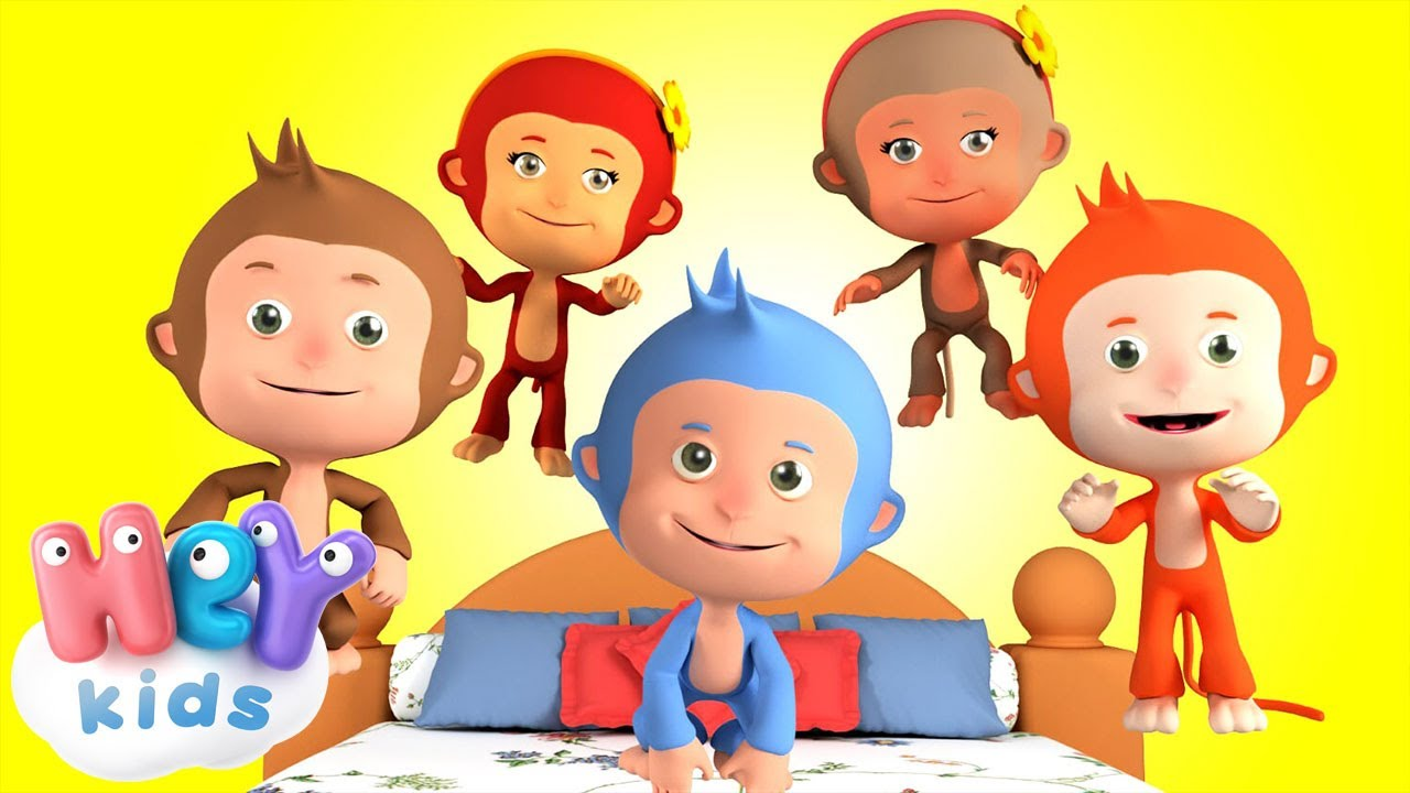 Cinque Scimmiette Saltavano Sul Letto.Cinque Scimmiette Le Piu Belle Canzoni Per Bambini Youtube
