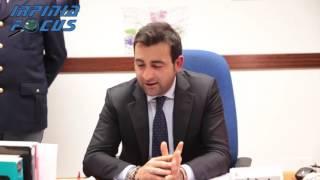 La conferenza stampa del  nuovo Capo della Mobile di Avellino Michele Salemme