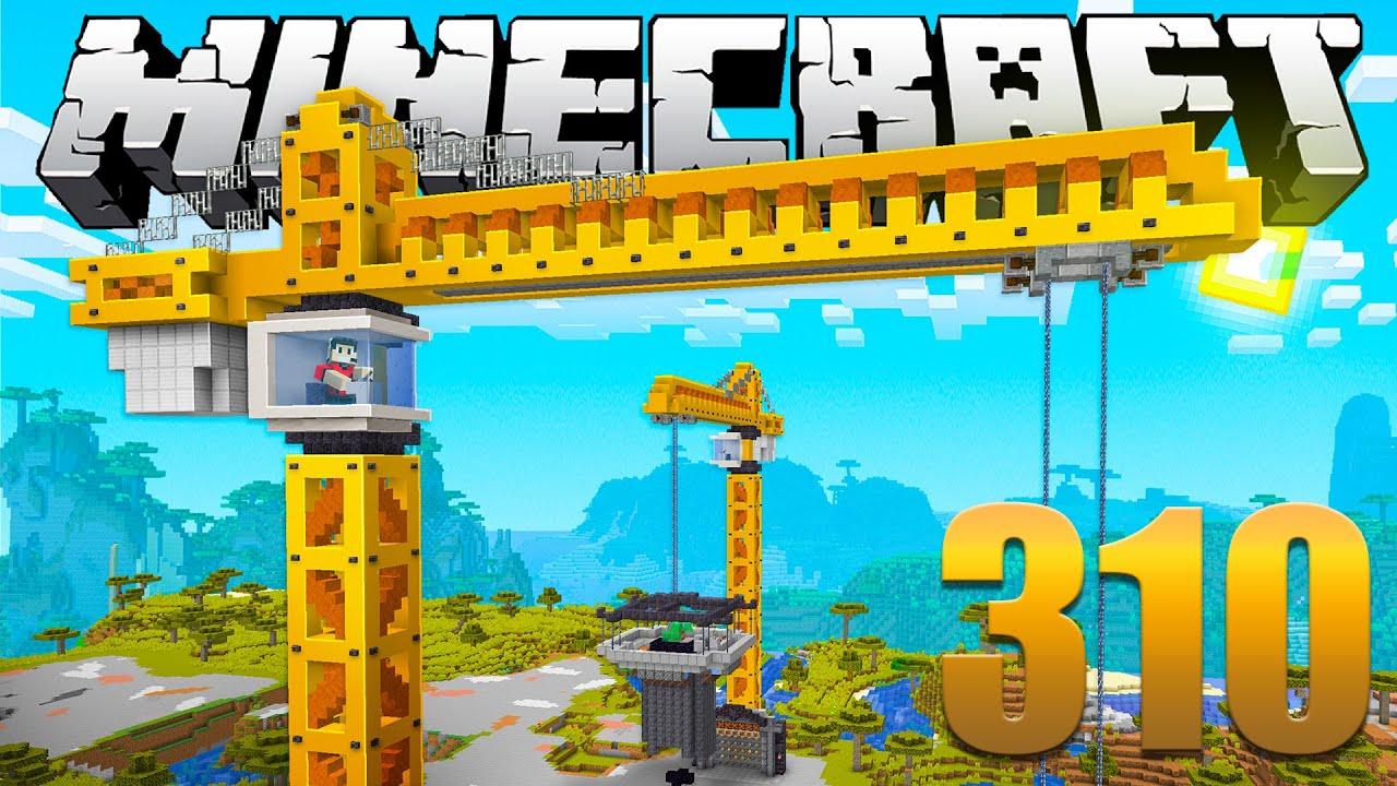 O MEGA GUINDASTE - Minecraft Em busca da casa automática #310