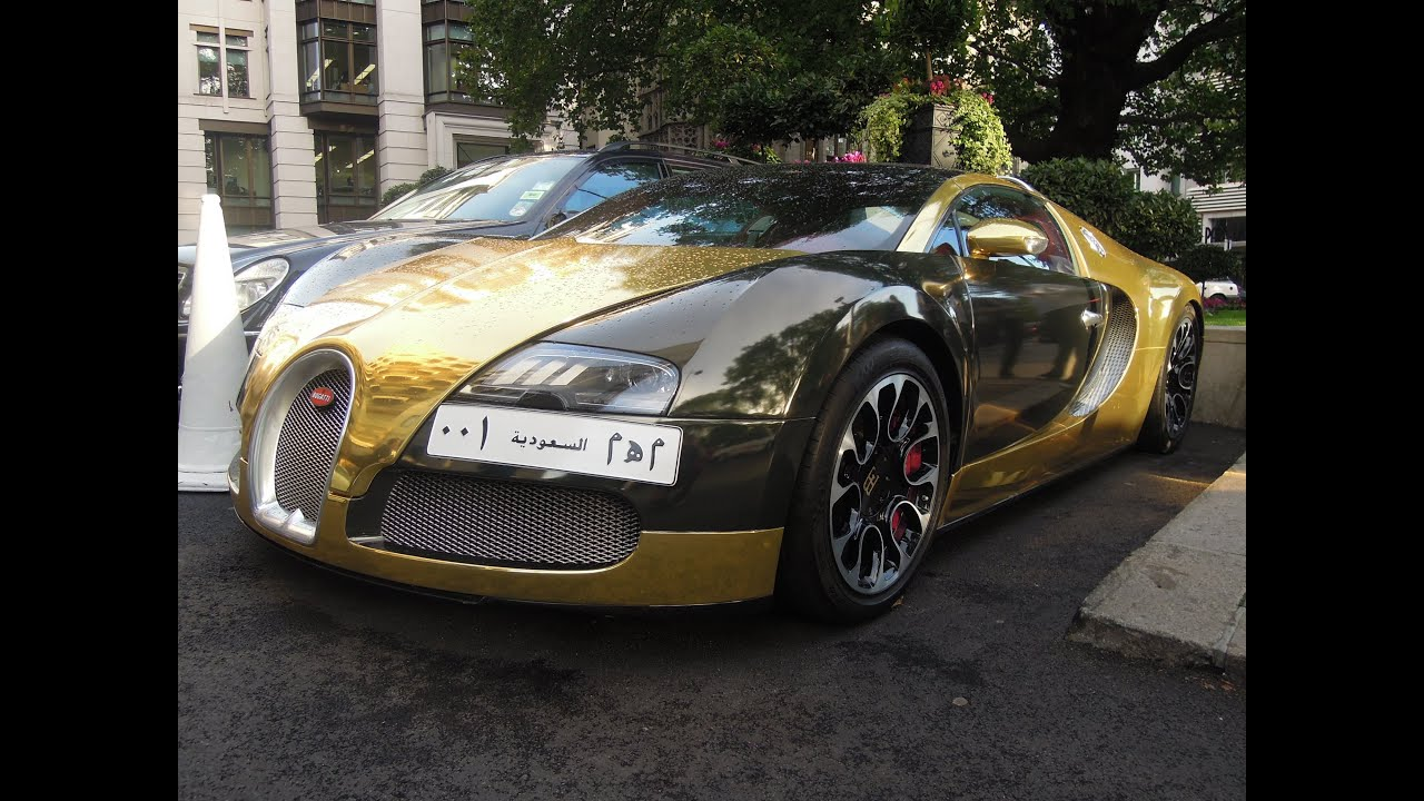 Chrome gold Bugatti Veyron Grand Sport from Saudi-Arabia ...
