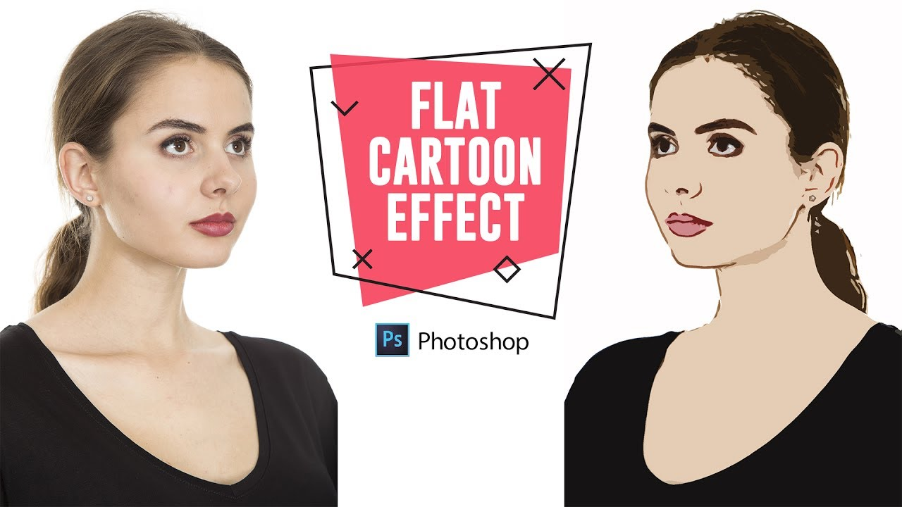 Photo To Line Art Converter Online : How to create flat cartoon effect in photoshop turn