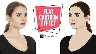 Wie zu flächigen Comic-Effekt in Photoshop zu Drehen Porträts in Vektorgrafiken (Keine Pen-Tool)