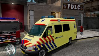 GTA IV - Firefighter Mod - Dutch Ambulance Service