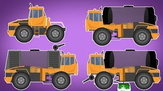 Transformer | Water Tank Truck | Fire Truck | Road Cleaning Truck | Vehicles Video For Kids