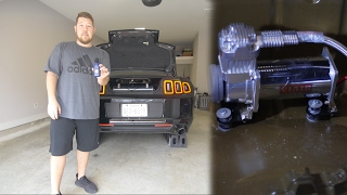 air lift compressor isolator kit install and sound test they work