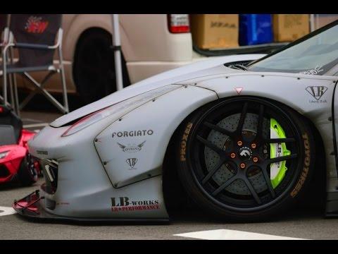 Liberty Walk LB☆PERFORMANCE LB☆works Ferrari 458 Italia Fi EXHAUST Sound!!