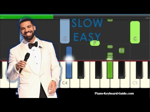 How To Play Nice For What By Drake - Slow Easy Piano Tutorial
