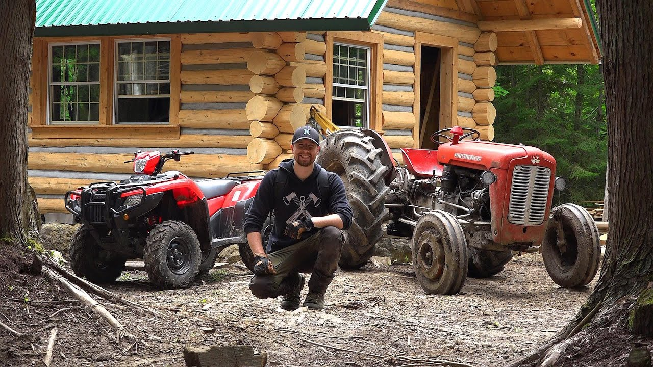 Best Machines for Off-Grid Work! ATV vs Tractor / Outsider Log Cabin