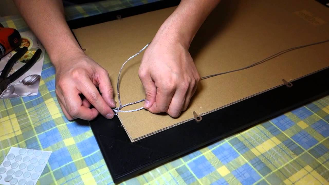 How to Hang a Picture Frame - YouTube