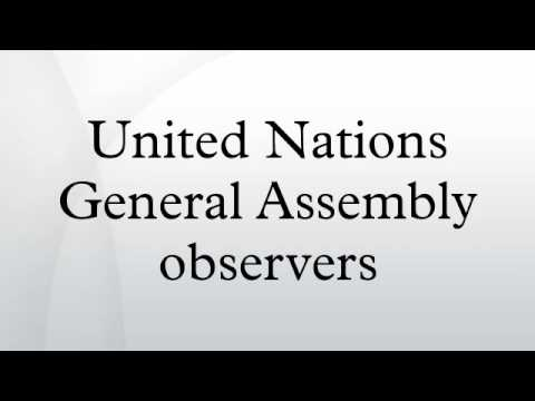 United Nations General Assembly observers