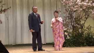 """ところ歌仲間歌謡祭2014.4.20 ご夫婦で、藤まりこさんのデュエット曲""""ふ..."""