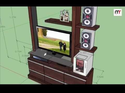 medidas modular de sala tv