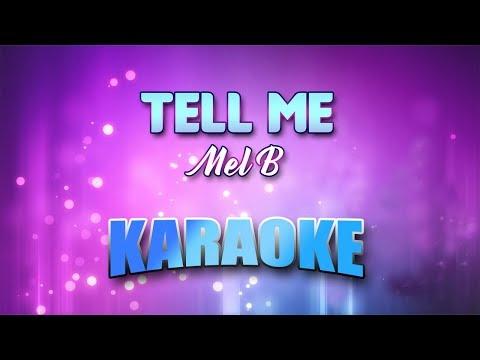 Mel B - Tell Me (Karaoke version with Lyrics)