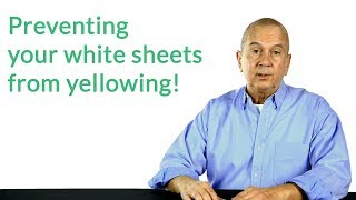 How to keep white sheets white!