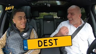 Sergiño Dest - Bij Andy in de auto! (English subtitles)