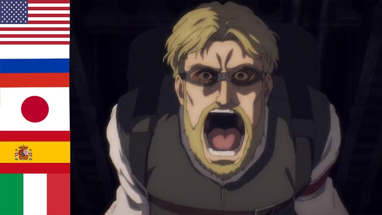 "Download ""Zeke's Scream"" in 5 languages ● Attack On Titan Season 4"