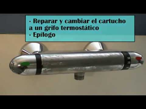 Reparar un grifo termost tico cambiar el cartucho youtube for Cartucho termostatico roca