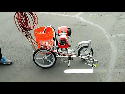 World's Amazing Modern Road Marking Machine Equipment - Awesome  Road Marking Machines