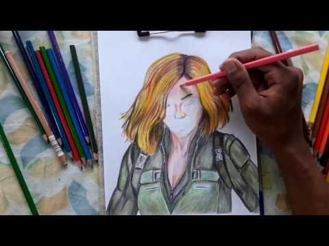 Sketching Black widow (Natasha Romanoff) Avengers Infinity wars