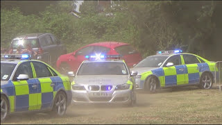 Police chase - North Yorkshire Police Road Crime Team Audi A4 & BMW 3 series DEMONSTRATION