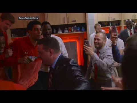 Texas Tech locker room erupts after win against No. 2 West Virginia | ESPN