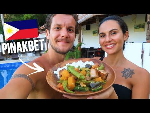 FOREIGNERS COOK YUMMY PINAKBET! 🇵🇭 FILIPINO VEGETARIAN FOOD