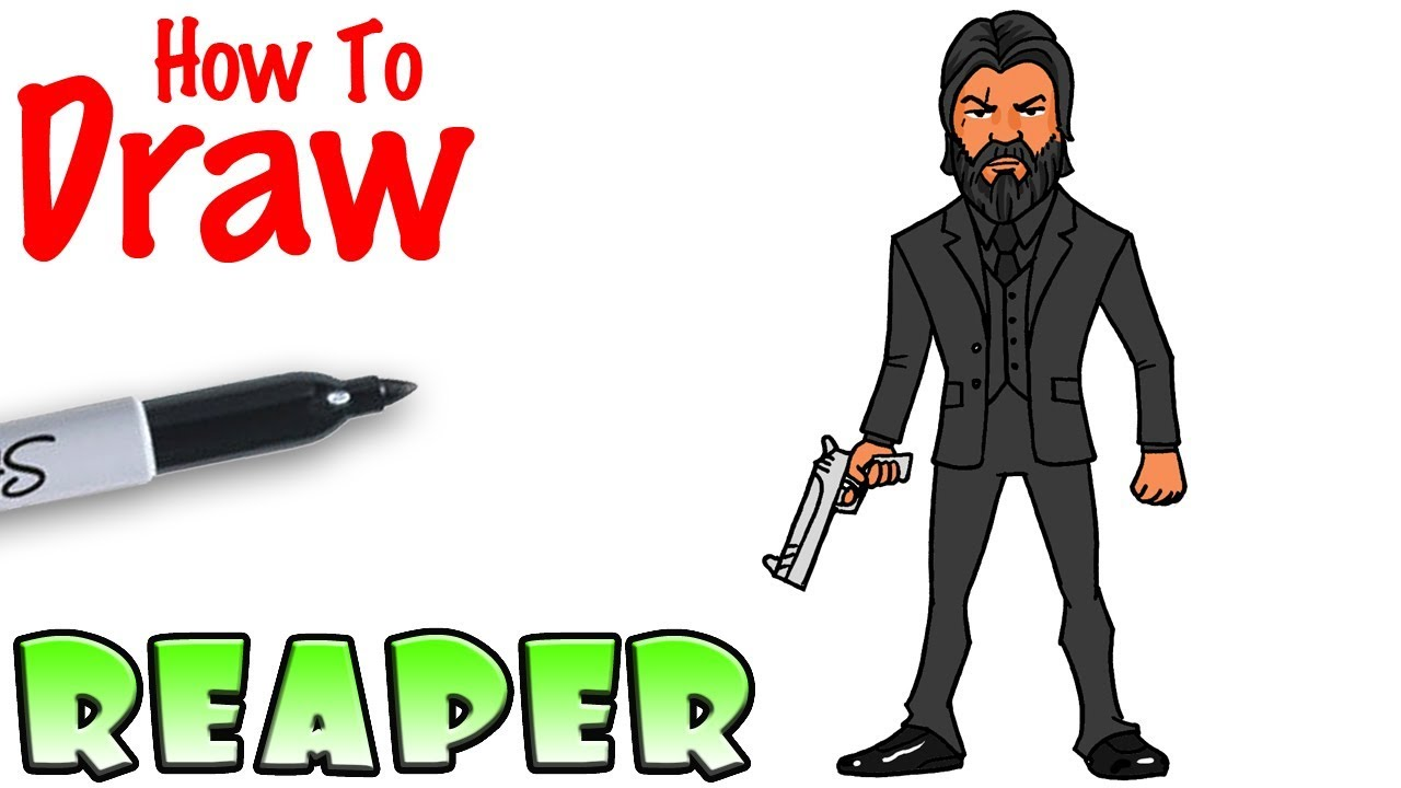 How To Draw The Reaper Fortnite Youtube