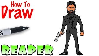 How to Draw the Reaper | Fortnite