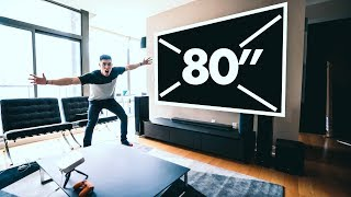 "THE 80"" TV THAT FITS INTO YOUR POCKET! - LG Projector"