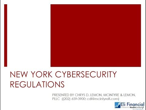 New York State's New Cybersecurity Requirements for Financial Services Companies