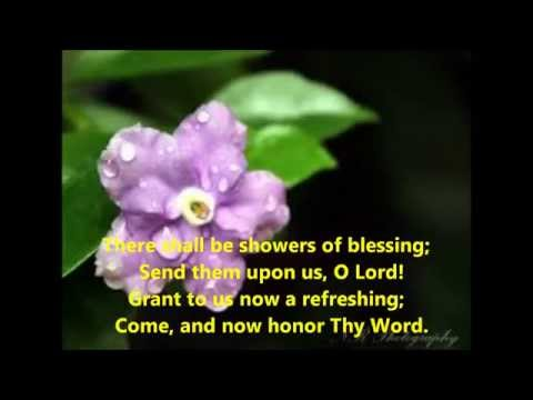 Showers of blessing Christian devotional song with lyrics