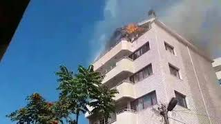 Zonguldak'ta 6 katlı binada yangın çıktı