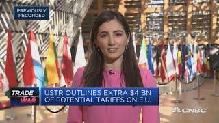 US proposes tariffs on 4 billion of EU goods  Squawk Box Europe