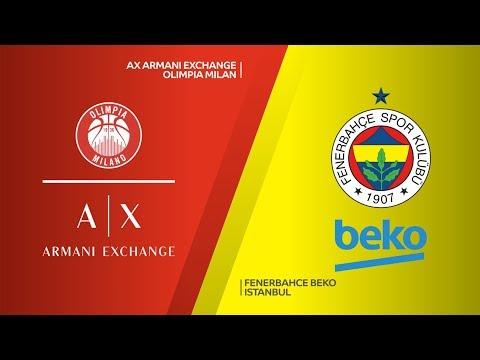 AX Armani Exchange Olimpia Milan - Fenerbahce Beko Istanbul Highlights | EuroLea