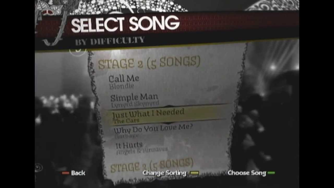 Rockband Song Pack 2 Complete List