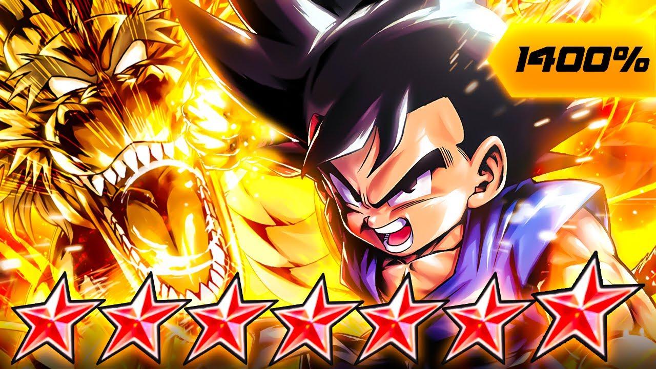 (Dragon Ball Legends) ZENKAI 7, 1400%, 14 STAR RED GT GOKU! THE ULTIMATE ONE-SHOT MASTER!