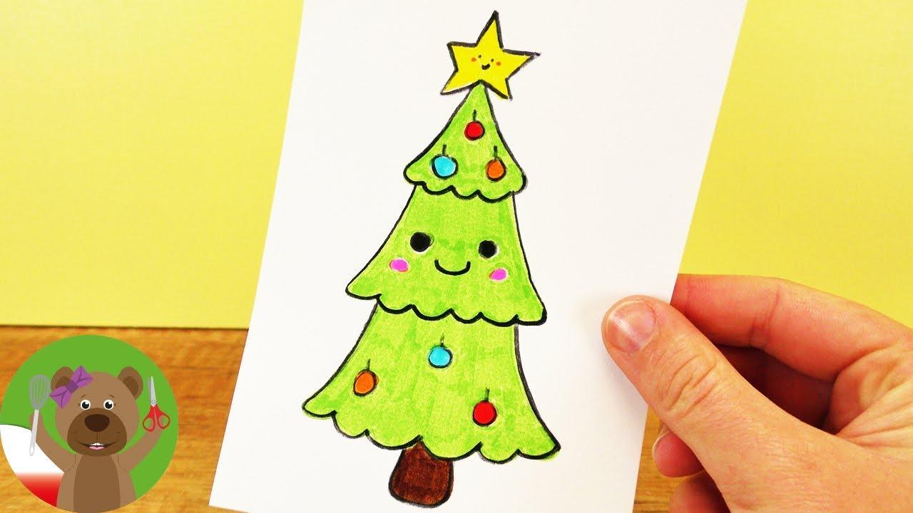 Malowanie i Rysowanie z dziećmi | choinka w stylu Kawaii | DIY świąteczne dekoracje