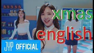 """how much English was in TWICE Xmas songs? 