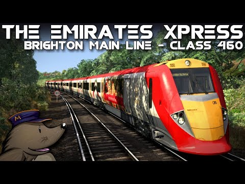 TS2018 | The Emirates Xpress | London to Brighton | BR Class 460
